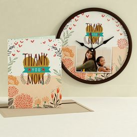 Thank you Mom clock club with card