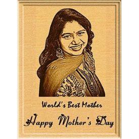 Super Mom photo wooden board