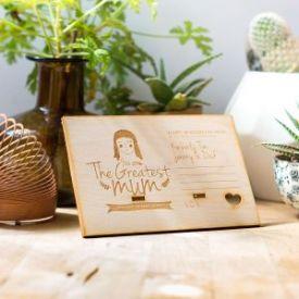 Greatest Mum Personalized wooden board