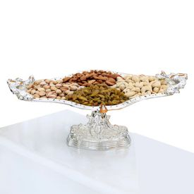 Silver plated tray with stand
