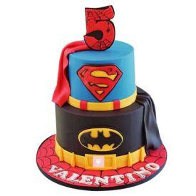 4KG Batman N Superman Vanilla Cake