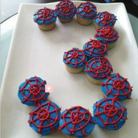 Platter of Spiderman Cup Cake