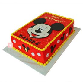 Red Mickey Mouse Cake