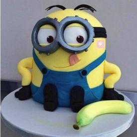 Banana N Bob Minion Cake