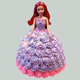 Barbie in Floral Design Cake