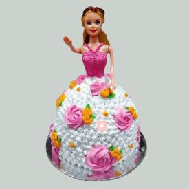 Floral Barbie Cake
