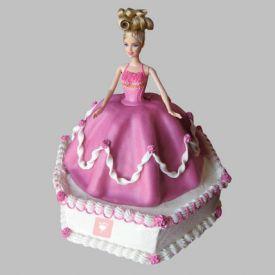 Florid Barbie Cake