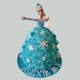 Blue Berry Barbie Cake