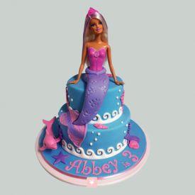 Cute Mermaid Barbie Cake