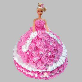 Rosy Barbie Cake