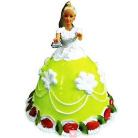 The Lovely Barbie Cake