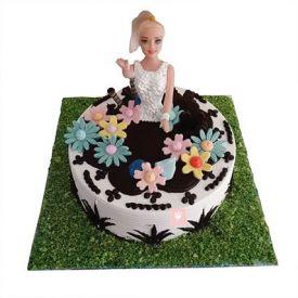 Lovely Baby Doll Cake