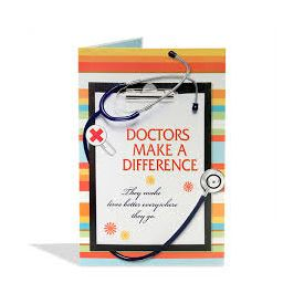 doctors gift greeting card
