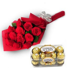 Beautiful Roses With Ferrero Rocher