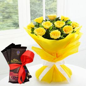 Bournville With Yellow Roses