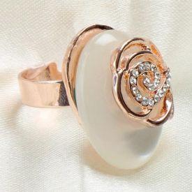 Stone Flower Ring
