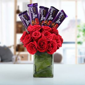 Roses with Dairy Milk