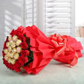 Bouquet of Ferrero Rocher n Roses