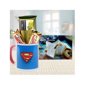 Super Hamper ? Mug, Kaaju Barfi, Chocolates