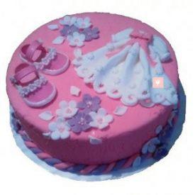 Baby girl dress cake