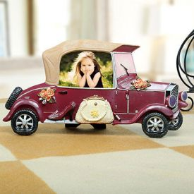 Personalized Floral Car Photo Frame