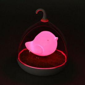 Bird LED Sensor Night Lamp Pink