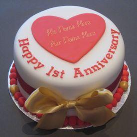 happy 1st anniversary cake