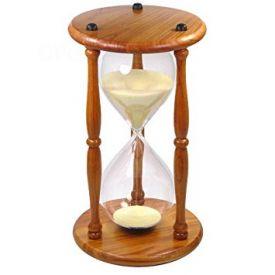 wooden hourglass showpiece