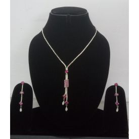 Crystal Necklace Drop Earrings Jewelry Set