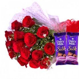 Red Blooms With silky treat