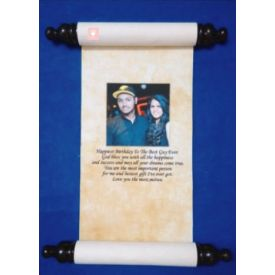 Personalized scroll with box