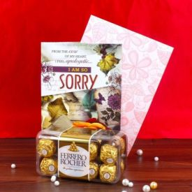 Ferrero Rocher N Sorry Card