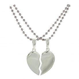 Style Tweak Metal Silver Pendant Necklace For Women & Men
