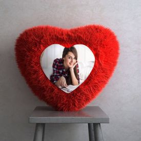 Personalized heart shape cushion