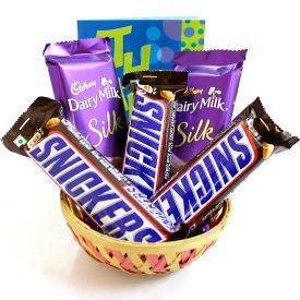 Basket of Chocolate Surprise