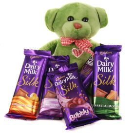 Teddy N Dairy Milk Silk