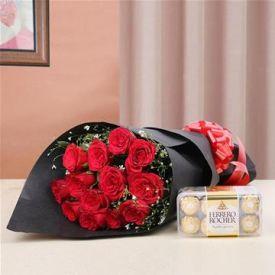 Roses with ferrero rocher