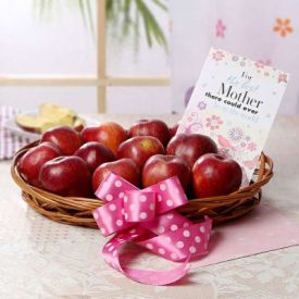 Apple with Greeting Card