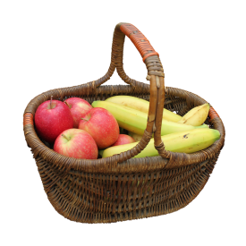 Apple N Banana with Basket