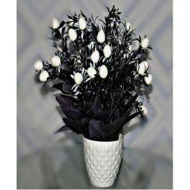 White tulip with vase