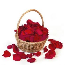Rose Petals With Basket