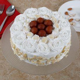 Gulab jamun flower design cake