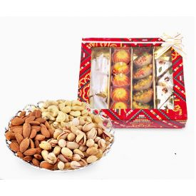Mixed Sweets With Mixed Dry Fruits