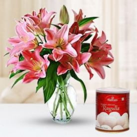 Lilies With Rasgulla
