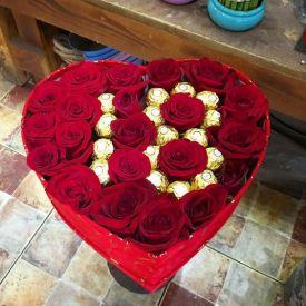 Flowers with Ferrero rocher