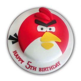 Angry Bird Fondant Cake