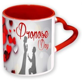 Heart Handle Promise Day Mug