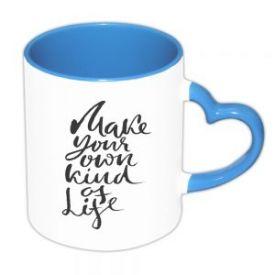 Heart Handle Skyblue Mug